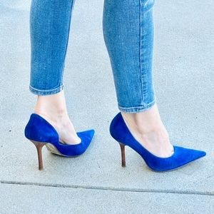 GUESS Carrie pumps Blue suede leather heels royal